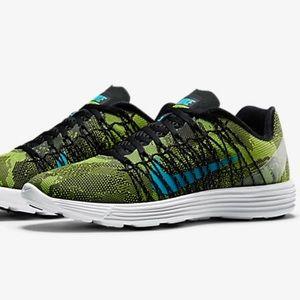 Nike Shoes - Nike Lunaracer. Ghost Green Camo and Blue Swoosh.